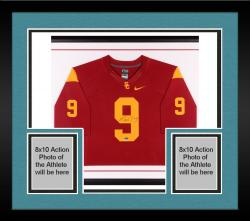 Framed Marqise Lee Autographed USC Trojans Limited Jersey