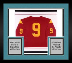 "Framed Marqise Lee Autographed USC Trojans Limited Jersey with ""Stats"" Inscriptions"
