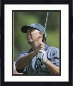 Framed Tom Lehman Autographed 8'' x 10'' Blue Shirt Swinging Photograph