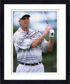 Framed Tom Lehman Autographed 8'' x 10'' Gray Shirt Swinging Photograph