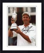 Framed Tom Lehman Autographed 8'' x 10'' Holding Trophy Photograph