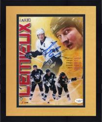Framed LEMIEUX, MARIO AUTO (PENGUINS/MULTI PHOTO) 8X10 PHOTO - Mounted Memories