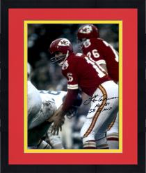 Framed Len Dawson Kansas City Chiefs Autographed 16'' x 20'' Under Center Photograph with Multiple Inscriptions