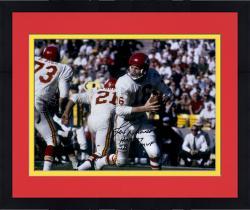 "Framed Len Dawson Kansas City Chiefs Autographed 16"" x 20"" White Rollout Photograph with Multiple Inscriptions"
