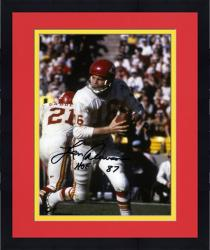 "Framed Len Dawson Kansas City Chiefs Autographed 8"" x 10"" Looking to Pass Photograph with HOF 87 Inscription"