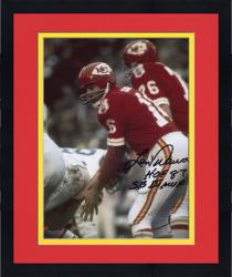 Framed Len Dawson Kansas City Chiefs Autographed 8'' x 10'' Under Center Photograph with Multiple Inscriptions