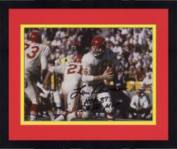 Framed Len Dawson Kansas City Chiefs Autographed 8'' x 10'' White Rollout Photograph with Multiple Inscriptions
