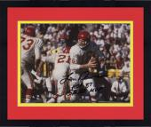 "Framed Len Dawson Kansas City Chiefs Autographed 8"" x 10"" White Rollout Photograph with Multiple Inscriptions"