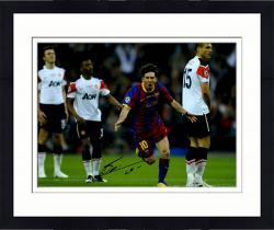 "Framed Lionel Messi FC Barcelona B Autographed 16"" x 12"" 2011 Goal Photograph"