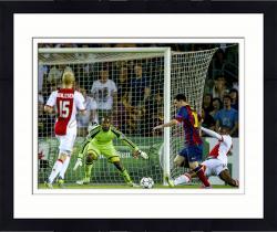 "Framed Lionel Messi FC Barcelona B Autographed 16"" x 12"" 2014 Goal Photograph"
