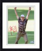 Framed Justin Leonard Autographed 8'' x 10'' Both Arms In Air Photograph