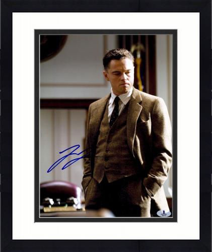 "Framed Leonardo DiCaprio Autographed 11"" x 14"" J. Edgar Hands In Pocket Photograph - Beckett COA"