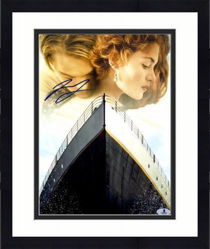 """Framed Leonardo DiCaprio Autographed 11""""x 14"""" Titanic Collage Photograph - BAS COA"""