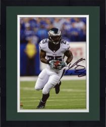 """Framed LeSean McCoy Philadelphia Eagles Autographed 8"""" x 10"""" White Jersey Running Solo Photograph"""
