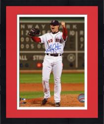 Framed Jon Lester Autographed Red Sox 8x10 Photo