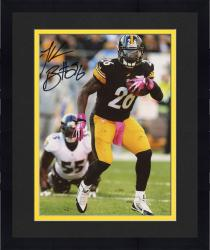 "Framed Le'Veon Bell Pittsburgh Steelers Autographed 8"" x 10"" Black Jersey Running Photograph"