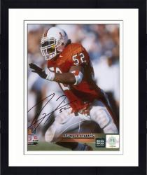 Framed Ray Lewis Autographed Miami Hurricanes 8x10 Photo