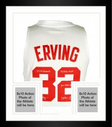Framed Limited Edition Julius Erving New York Nets Autographed Jersey - Multiple Inscriptions