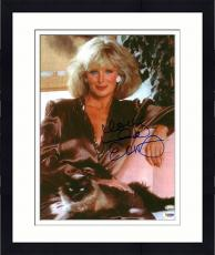 Framed Linda Evans Autographed Photo - 11x14 PSA/DNA - Damaged