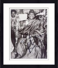 Framed LL Cool J Autographed 8'' x 10'' Black and White Photograph
