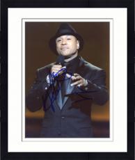 Framed LL Cool J Autographed 8'' x 10'' Black Suit Photograph