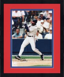Framed Kenny Lofton Atlanta Braves Autographed 8'' x 10'' Post Swing Photograph
