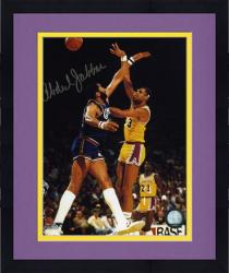 Framed Los Angeles Lakers Kareem Abdul-Jabbar Autographed 8'' x 10'' Photo vs. Los Angeles Clippers