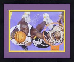 "Framed Los Angeles Lakers Shaquille O'Neal Autographed 16"" x 20"" Photo -"