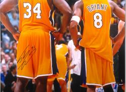 "Framed Los Angeles Lakers Shaquille O'Neal Autographed 30"" x 40"" Photo"