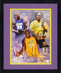 "Framed Los Angeles Lakers Shaquille O'Neal MVP Autographed 16"" x 20"" Photo"