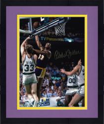 "Framed Los Angeles Lakers vs Boston Celtics Kareem Abdul-Jabbar Autographed 8"" x 10"" Photo"