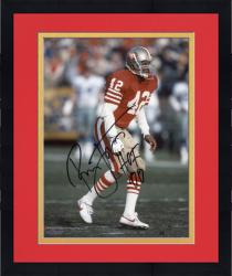 "Framed LOTT, RONNIE AUTO ""HOF 00"" (49ERS/RED STANCE) 8X10 PHOTO - Mounted Memories"