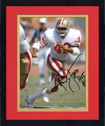 "Framed LOTT, RONNIE AUTO ""HOF 00"" (49ERS/WHITE RUNNING) 8X10 PHOTO - Mounted Memories"