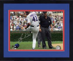 "Framed Lou Piniella Chicago Cubs Autographed 8"" x 10"" Tirade Photograph"