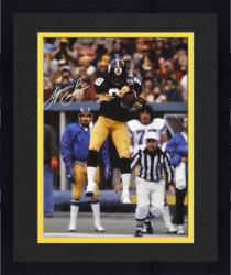 """Framed Lynn Swann Pittsburgh Steelers Autographed 16"""" x 20"""" Jumping In Air Photograph"""