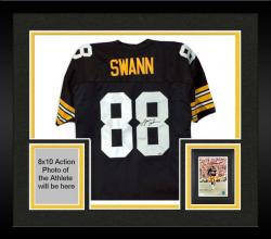 Framed Lynn Swann Pittsburgh Steelers Autographed Black Jersey
