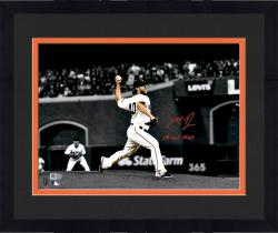 "Framed Madison Bumgarner San Francisco Giants Autographed 11"" x 14"" Spotlight 2014 World Series Photograph with 14 WS MVP"