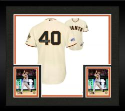 Framed Madison Bumgarner San Francisco Giants Autographed 2014 World Series Home Jersey with Multiple Inscriptions - #2-24 of a Limited Edition of 25