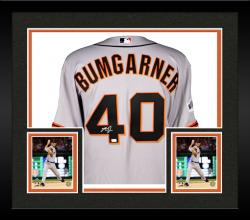 Framed Madison Bumgarner San Francisco Giants Autographed 2014 World Series Road Jersey