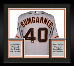 Framed Madison Bumgarner San Francisco Giants Autographed 2014 World Series Road Jersey with 14 WS MVP Inscription