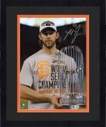 "Framed Madison Bumgarner San Francisco Giants Autographed 8"" x 10"" 2014 World Series Celebration Photograph"