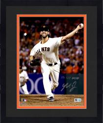 "Framed Madison Bumgarner San Francisco Giants Autographed 8"" x 10"" 2014 World Series Photograph with 14 WS MVP Inscription"