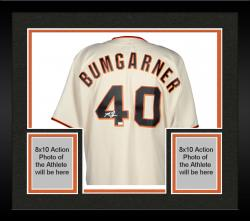 Framed Madison Bumgarner San Francisco Giants Autographed Cream Replica Jersey