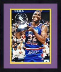 "Framed Magic Johnson Los Angeles Lakers Autographed 16"" x 20"" All-Star Photograph"