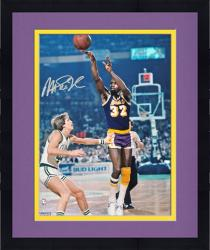 Framed Magic Johnson Los Angeles Lakers Autographed 16'' x 20'' Horizontal Passing Photograph