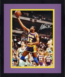 Framed Magic Johnson Los Angeles Lakers Autographed 16'' x 20'' vs. Milwaukee Bucks Photograph