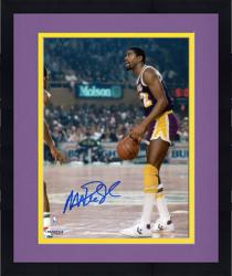 "Framed Magic Johnson Los Angeles Lakers Autographed 8"" x 10"" Dribble vs Boston Celtics Photograph"