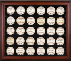Mahogany Framed 30-Ball Display Case