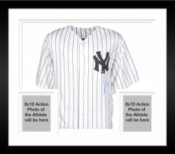 Framed Majestic Alex Rodriguez New York Yankees Autographed Replica Jersey