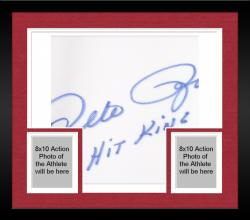 "Framed Majestic Cooperstown Pete Rose Cincinnati Reds Autographed 1976 Jersey with ""Hit King"" Inscription"
